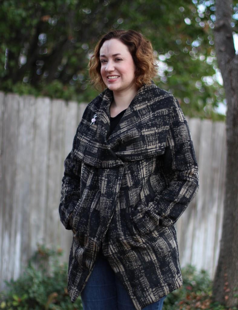Anthropologie Modernist Shawl-Collar Coat
