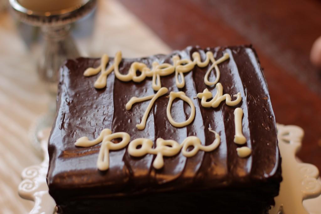 Happy Birthday Papa Walking with Cake