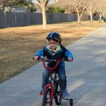 (James trying out his new bike on Christmas morning.)