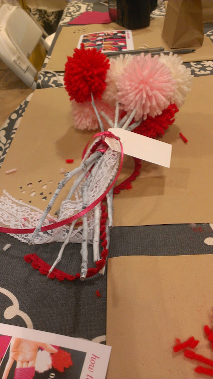 Walking with Cake: Pom-Pom Bouquet at Anthropologie