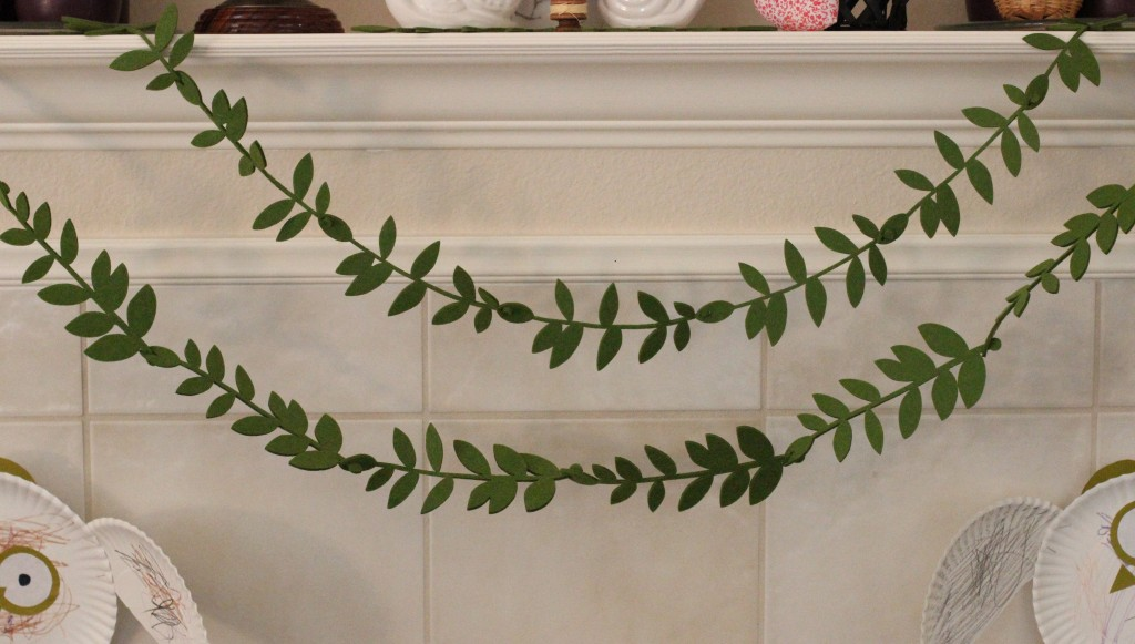 Walking with Cake: BHLDN Felted Foliage Garland