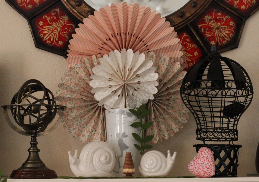 Walking with Cake: Mantel details