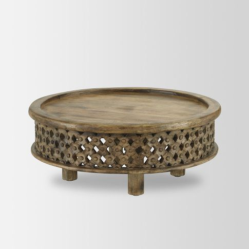 Walking with Cake: West Elm Carved Wood Coffee Table