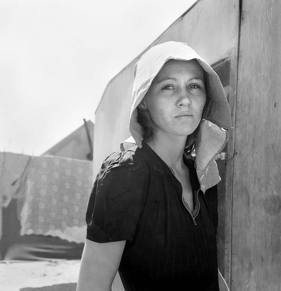 Walking with Cake: Dorothea_Lange,_Young_Migratory_Mother,_originally_from_Texas,_Edison,_California,_1940