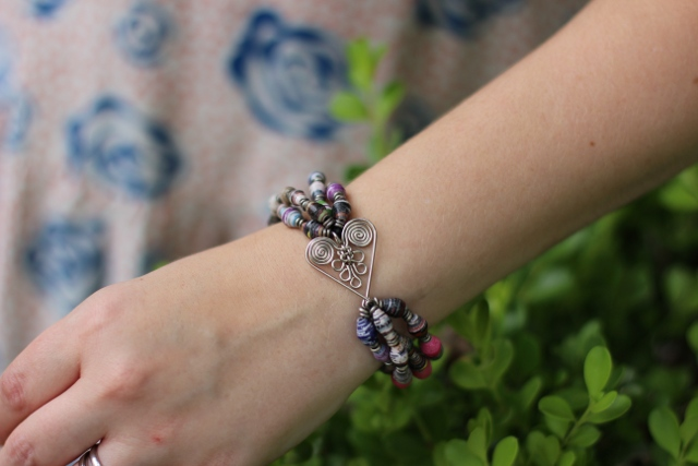 Walking with Cake: Healing Hearts Bracelet Clasp by VavaVida