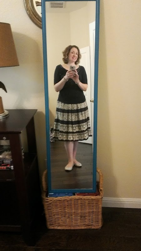 Walking with Cake: lace skirt