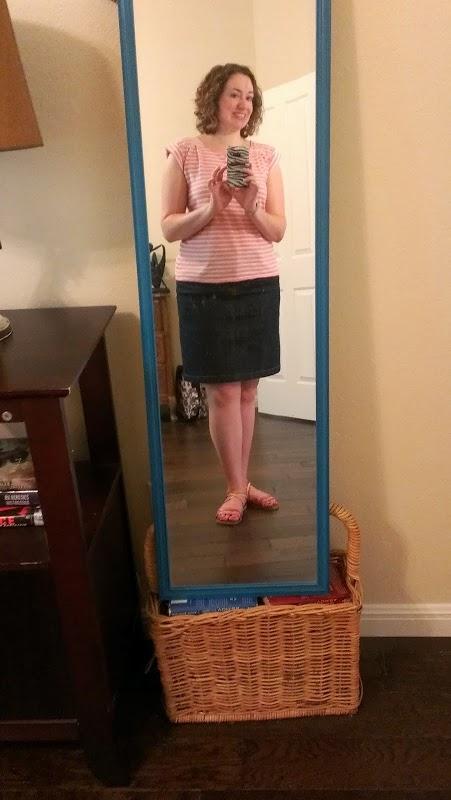 Walking with Cake: pink stripes
