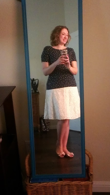 Walking with Cake: polka dots and lace