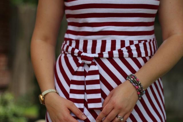 Walking with Cake: Belt detail of Riviera Romance dress