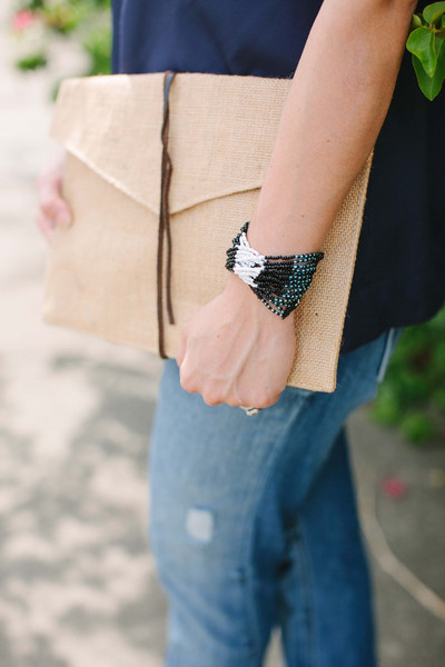 Walking with Cake: Colorblock Dangle Bracelet by Market Colors