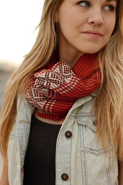 Walking with Cake: Woven Diamond Scarf by Market Colors