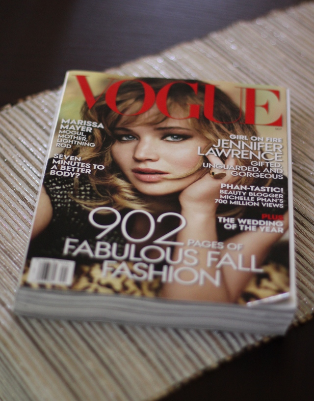 Walking with Cake: My September 2013 issue of Vogue