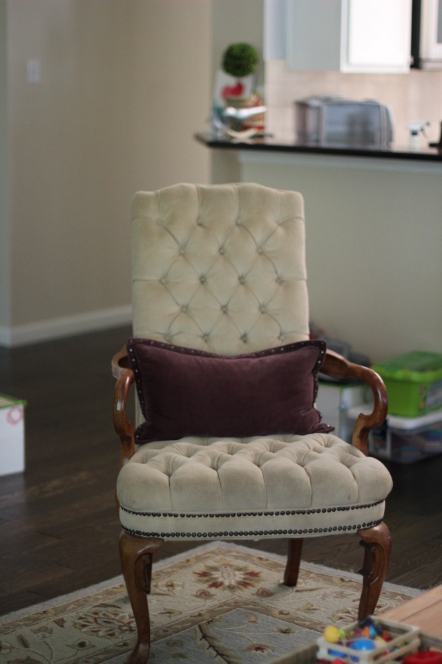 Walking with Cake: The Tufted Chair