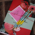 (Rifle Paper Co. notebooks and pretty pens.  A thoughtful gift from my sister.)