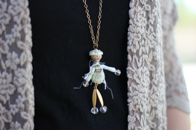 Walking with Cake: Lace and Fun Necklace