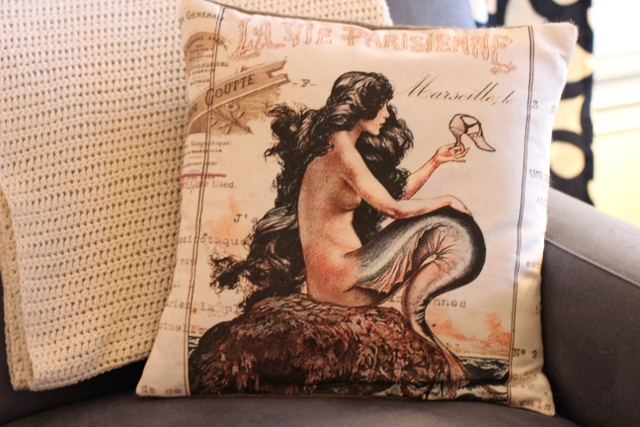 Walking with Cake: Jolie Marche La Vie Parisienne Mermaid pillow cover
