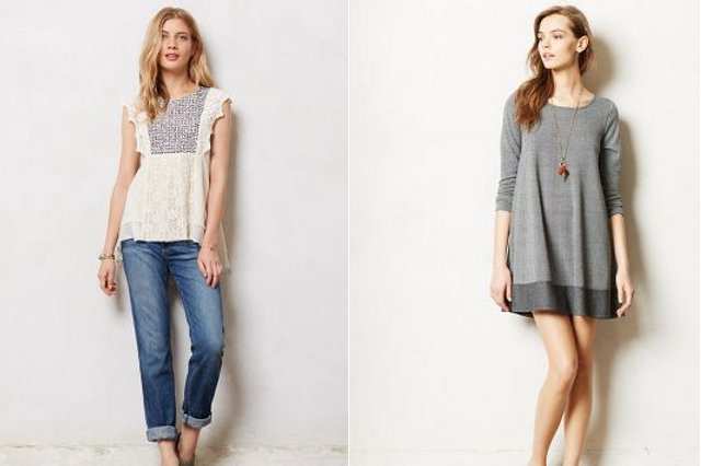 Walking with Cake: Paige Jimmy Jimmy Jeans and Puella Savant Swing Dress, via Anthropologie