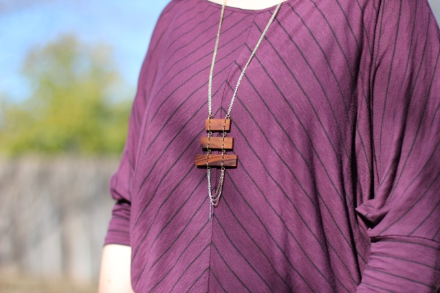 Walking with Cake: Wooden Ladder Necklace by Mata Traders