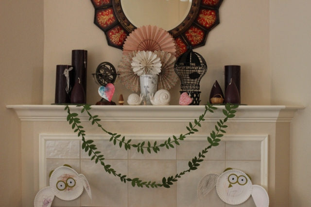 Walking with Cake: Early Spring Mantel