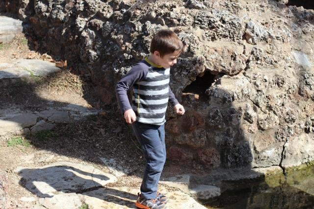 Walking with Cake: James exploring