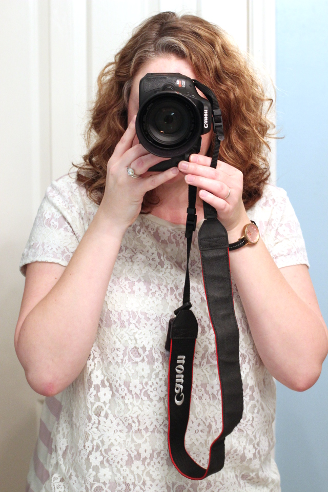 Walking with Cake: Self portrait with camera