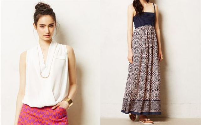 Walking with Cake: Avec V-Neck Tee by Dolan and Carreau Maxi Dress by Lilka, via Anthropologie