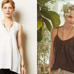(The Calla Tunic by Left of Center and the Layered Willow Cami by Stark X, via Anthropologie.)