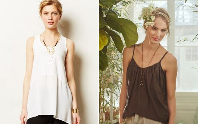 Walking with Cake: Calla Tunic by Left of Center and Layered Willow Cami by Stark X, via Anthropologie