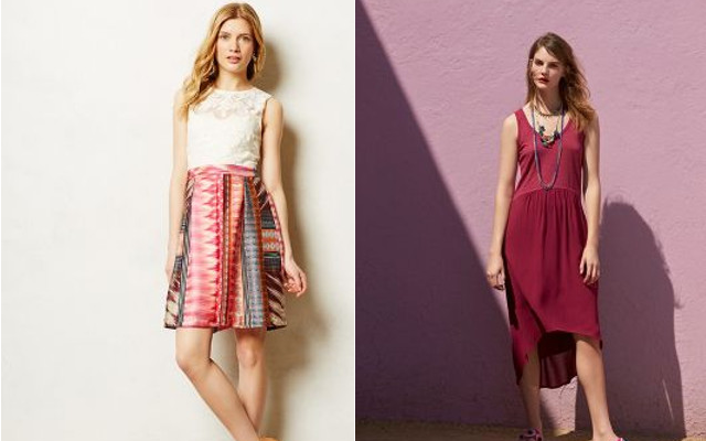 Walking with Cake: Mismado Dress by Weston Wear, Tulipan Tank Dress by Wilt, via Anthropologie