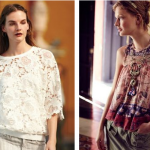 (Dolan's Pieced Petal Pullover and Liberty Garden's Campanula Tank.)