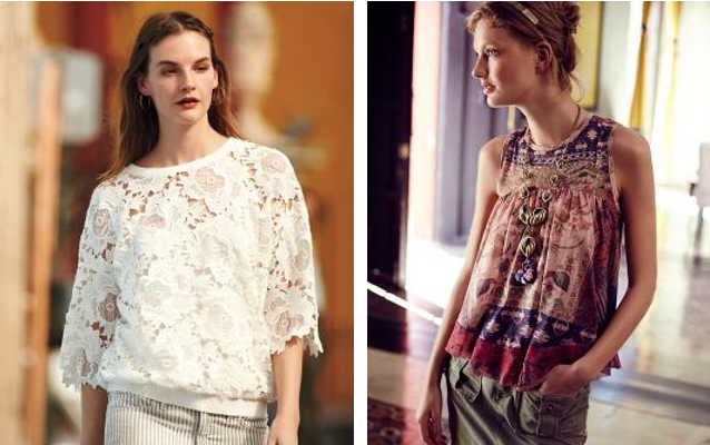 Walking with Cake: Pieced Petal Pullover by Dolan and Campanula Tank by Liberty Garden, via Anthropologie