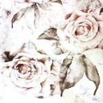 (My sample of Rose Decay wallpaper by Ellie Cashman Design.)