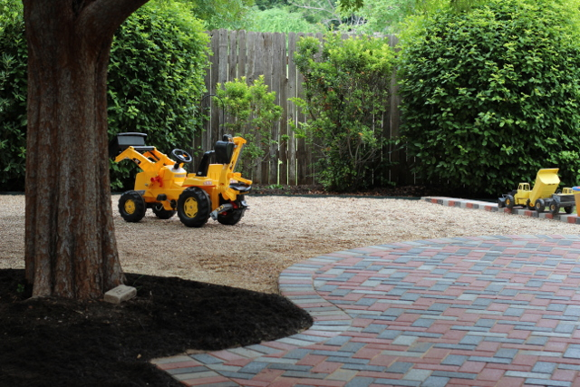 Walking with Cake: Patio and pea gravel
