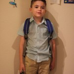 (All ready for his first day of kindergarten.)