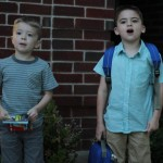 (James' first day of kindergarten.)