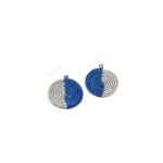 Walking with Cake: Blue Night/ Lake Woven Earrings