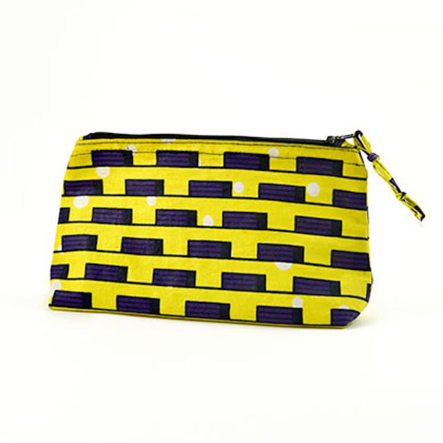Walking with Cake: Yellow Makeup Bag