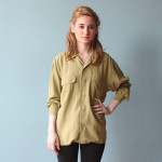 (Brown Bag Vintage's Olive Green Utility Top.)
