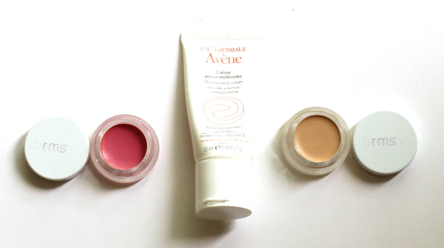 Walking with Cake: RMS Beauty and Avène Products.