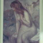 (My framed postcard of Renoir's Bather on a Rock.)