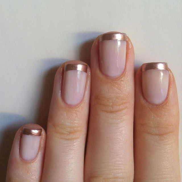 Walking with Cake: Rose Gold Manicure from Nails Always Polished
