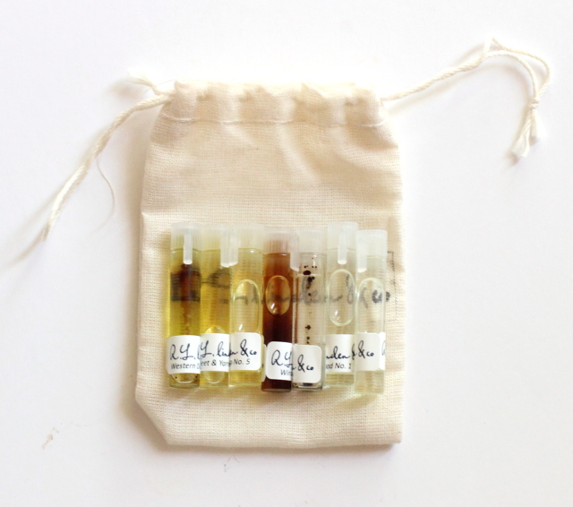 Walking with Cake: R.L. Linden Perfume Oil Sampler