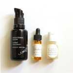 (A few of the serums I've tried lately.)