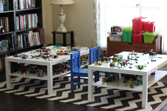 Walking with Cake: Lego Tables
