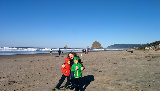 Walking with Cake: Haystack Rock, Cannon Beach, Oregon