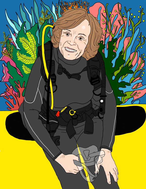 Walking with Cake: Sylvia Earle by Elizabeth Stilwell 600