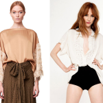 (Rodebjer's Patrina Fringe Top and Novella Royale's Frances Blouse in Cream.)