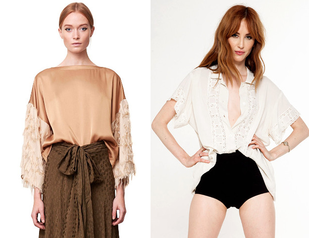 Walking with Cake: Rodebjer's Patrina Fringe Top and Novella Royale's Frances Blouse in Cream