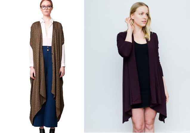 Walking with Cake: Ethical Alternative to Rodebjer, Seamly's Plum Wrapped Cardigan