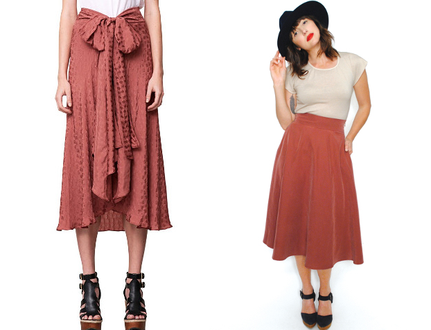 Walking with Cake: Odila Skirt by Rodebjer and Nora Skirt by Curator.